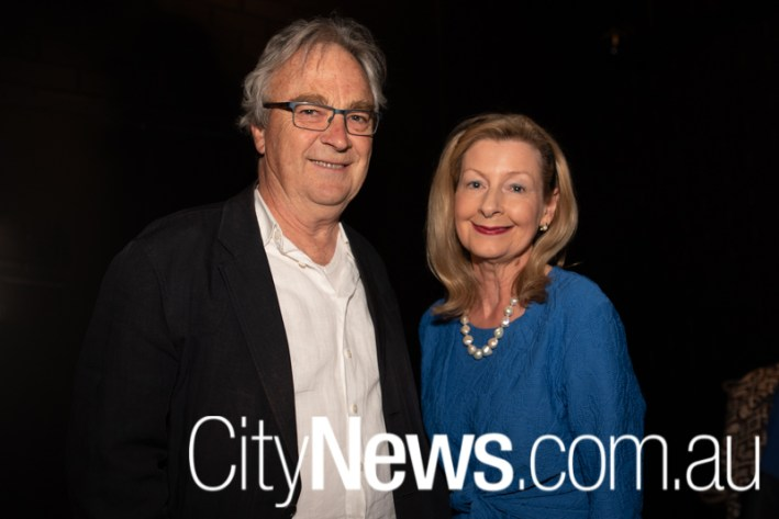 Canberra Theatre Centre's outgoing director Bruce Carmichael and Harriet Elvin