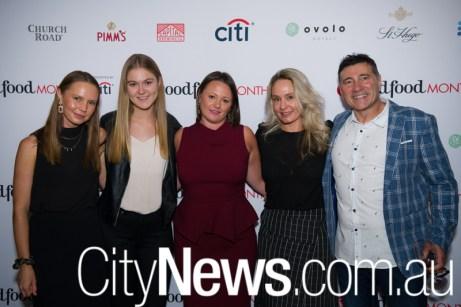 Jessica Good, Sophie Smith, Brittany Macfarlane, Sarah Robinson and Peter Bertolim