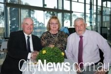 John and Lesley O'Sullivan with Keith Dryden