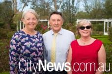 National Capital Authority CEO Sally Barnes, Ross and Fiona Di Bartolo