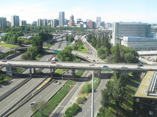 I-5 in Portland. Credit: Doug Kerr, Flickr