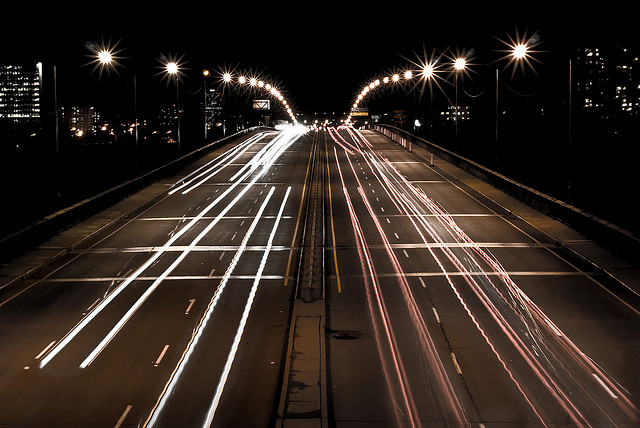 The wider the lanes, the easier it is to speed. Credit: Pier-Luc Bergeron, Flickr.
