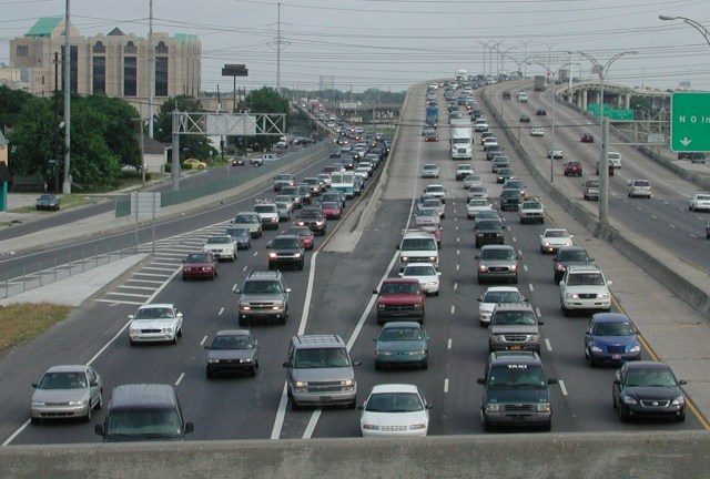 Traffic in New Orleans. Clearly, this highway isn't big enough. Credit: Bart Everson, Flickr