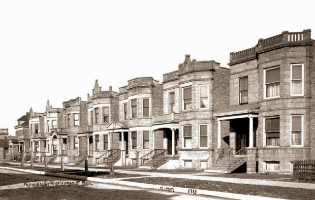 A brand-new subdivision of apartment buildings, 1911. Credit: Chuckman Collection