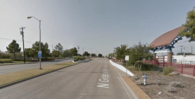 The Arapaho light rail stop in Dallas. Credit: Google Maps