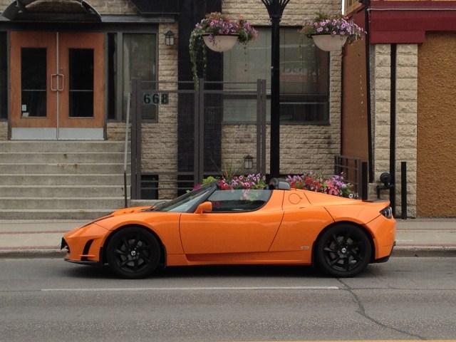 A parked Tesla. Credit: AJ Batac, Flickr