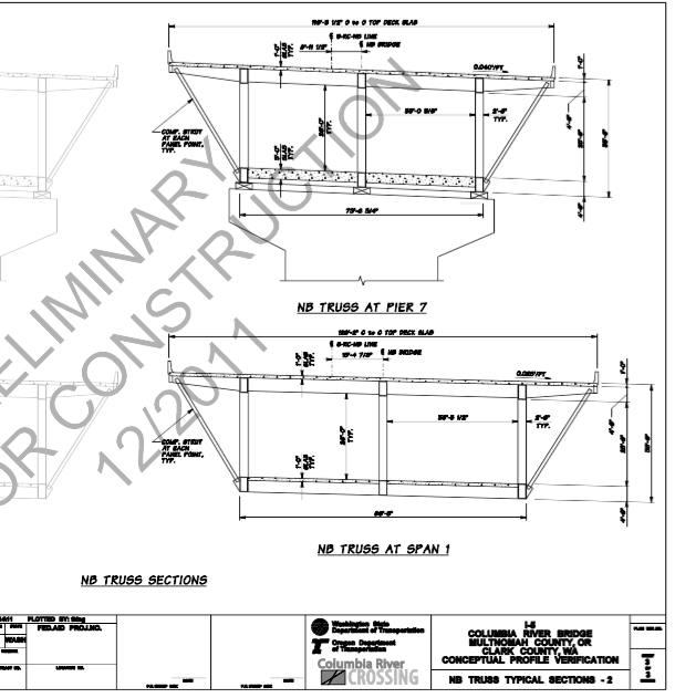 crc bridge cross section schematic, (public record request #d00482)