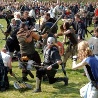 Protest Turns into giant LARP Battle