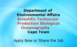 Scientific Technician Production Biological Oceanography Cape Town Jobs