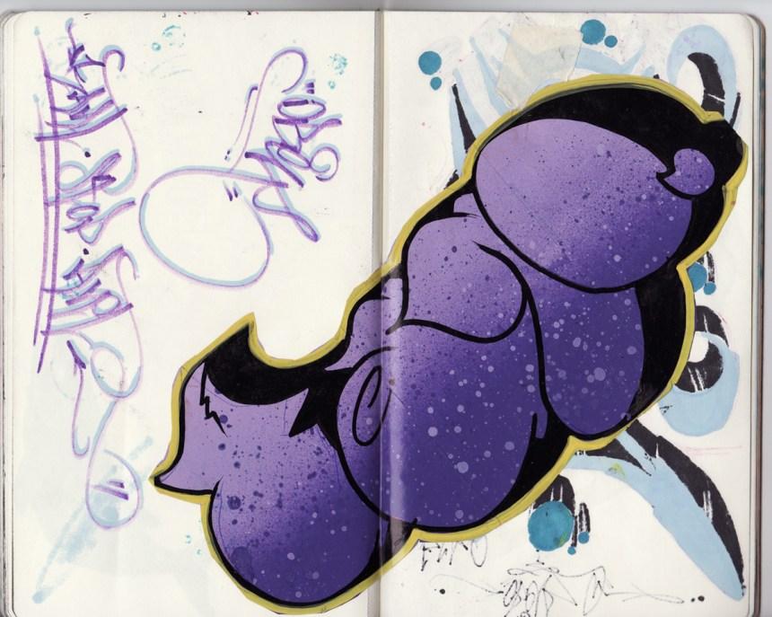sketchbook project, chicago art artist, illustration, graffiti, ober, ksa