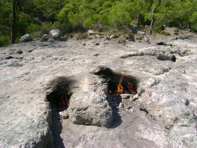 The Chimera (burning stones) - Antalya, Turkey