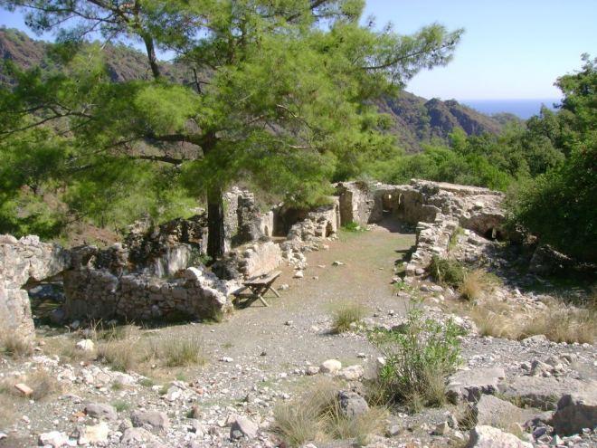 The ruins near the Chimera (burning stones) - Antalya, Turkey