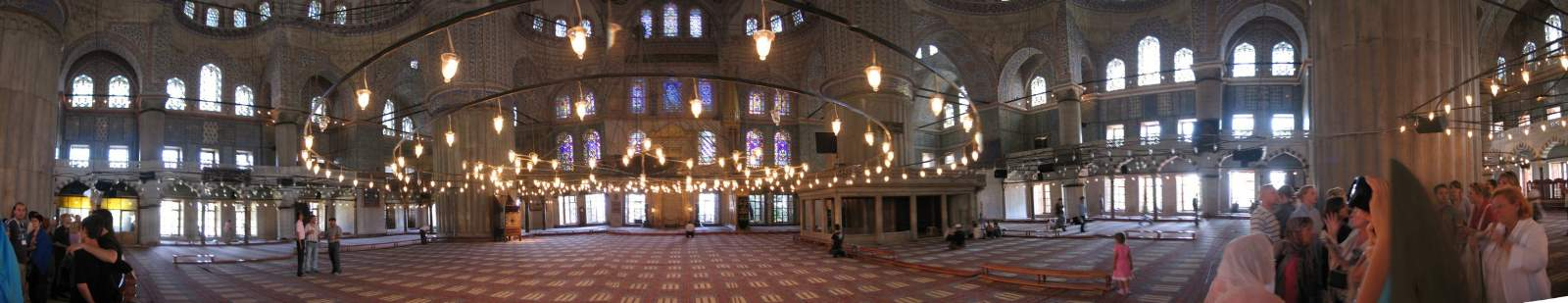 Blue Mosque interior panorama