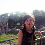 me with a weird grim and the Forum at my back