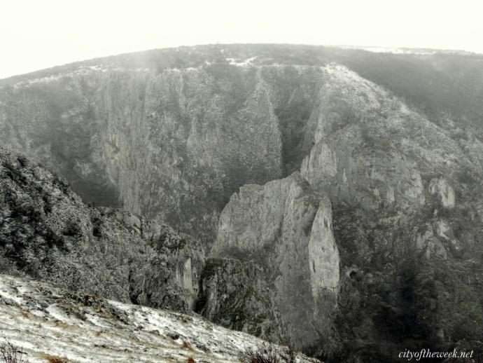 snowy Turda gorge