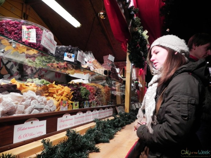 dry fruit at the Sibiu Christmas Market