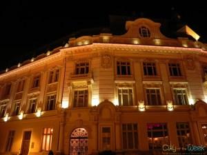 Sibiu City Hall by night