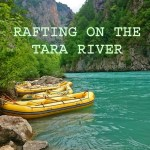 Rafting on the Tara River between Montenegro and Bosnia-Herzegovina