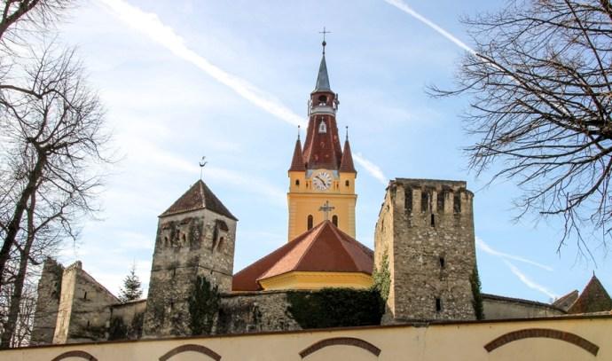 Cristian Fortified Saxon Church Brasov Romania
