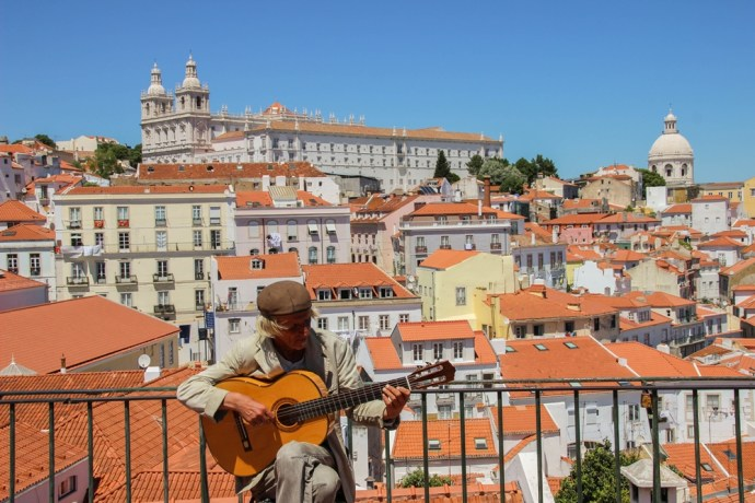 Local artist in Lisbon, Portugal