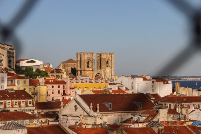 view from Santa Justa Lift, Lisbon, Portugal