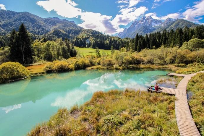 Zelenci Nature Park, Kranjska Gora, Slovenia