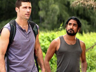 Jack and Sayid on the island