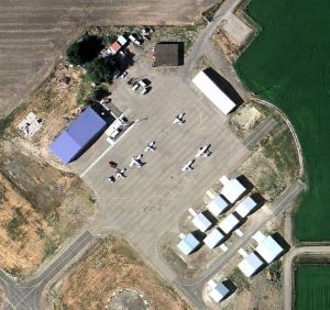 Weiser Airport Buildings Aerial