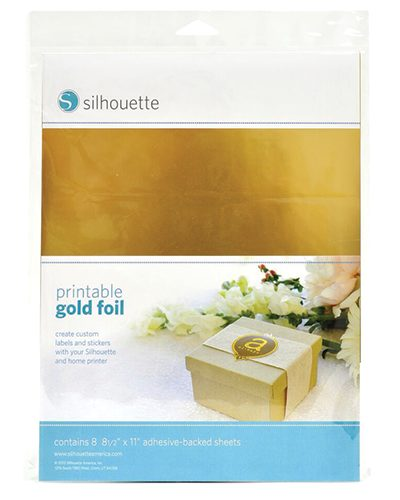 Silhouette printbaar printbare goud stickervellen printable adhesive sticker gold foil paper MEDIA-GLD-ADH-3T 814792012260 Cityplotter Zaandam