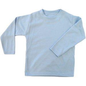 baby shirtje licht blauw effen lange mouw cityplotter