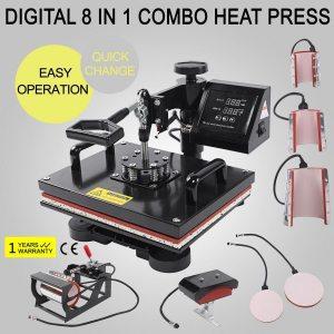Hittepers transferpers warmtepers drukpers 8 in 1 38 x 30 heatpress zwart black Cityplotter Zaandam