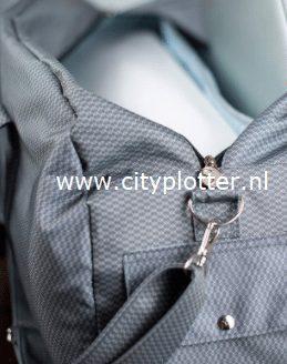 cameo 3 luxe tas grijs detail cityplotter zaandam