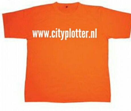 oranje shirt cityplotter zaandam