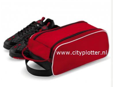 schoentas rood zwart cityplotter zaandam