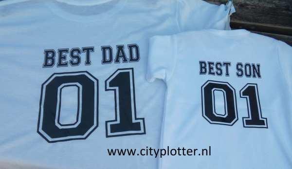shirt vaderdag best dad best son