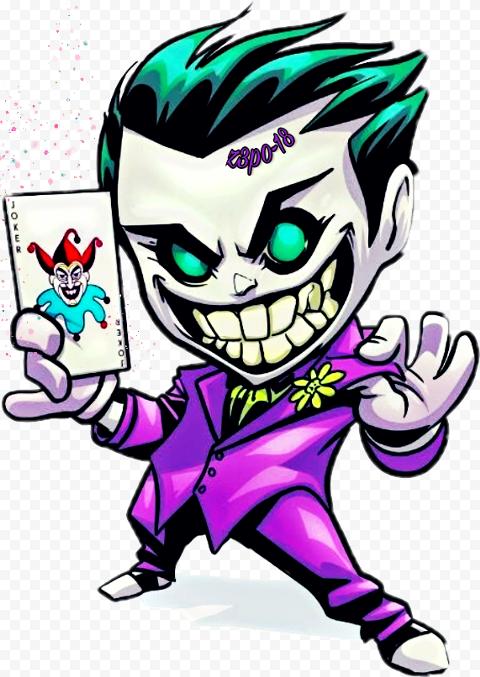 Joker Images Cartoon : joker, images, cartoon, Clipart, Crazy, Joker, Chibi, Cartoon, Illustration, Citypng