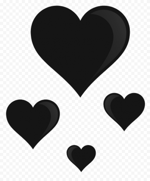 Black Hearts Png : black, hearts, Group, Black, Floating, Hearts, Citypng