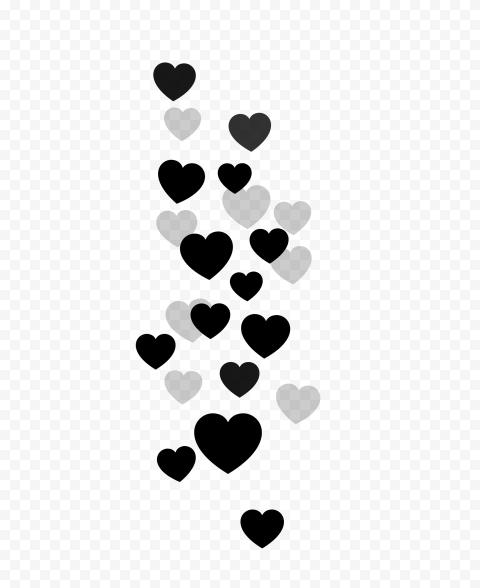 Black Hearts Png : black, hearts, Black, Floating, Hearts, Citypng
