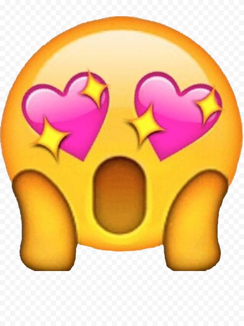 Heart Eyes Png : heart, Surprised, Hearts, Emoji, Citypng