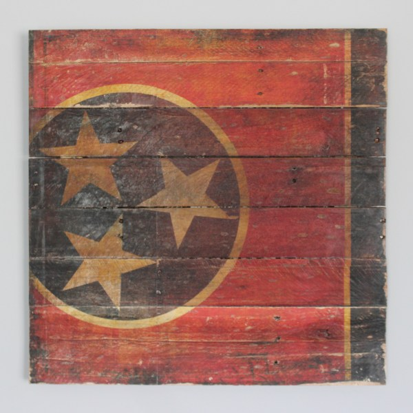 Tennessee Flag Reclaimed Wood Art Panel - City Prints