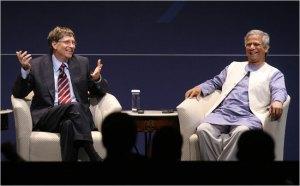 Bill Gates with Muhammad Yunus