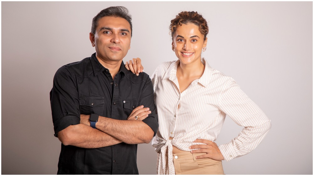 bollywood-star-taapsee-pannu,-former-sony-pictures-networks-executive-pranjal-khandhdiya-team-to-launch-outsiders-films-(exclusive)