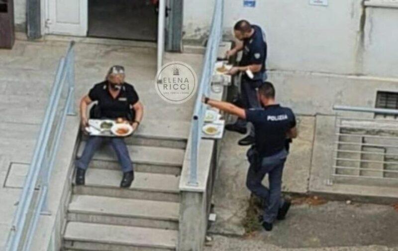 trieste:-polizia-di-stato-cacciata-dalle-mensa-e-costretta-a-mangiare-sulle-scale-perche-senza-green-pass
