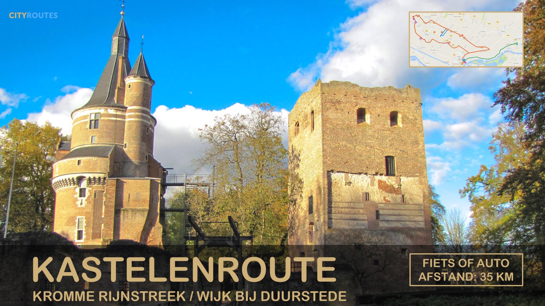 Gratis kastelenroute Kromme Rijnstreek Cityroutes