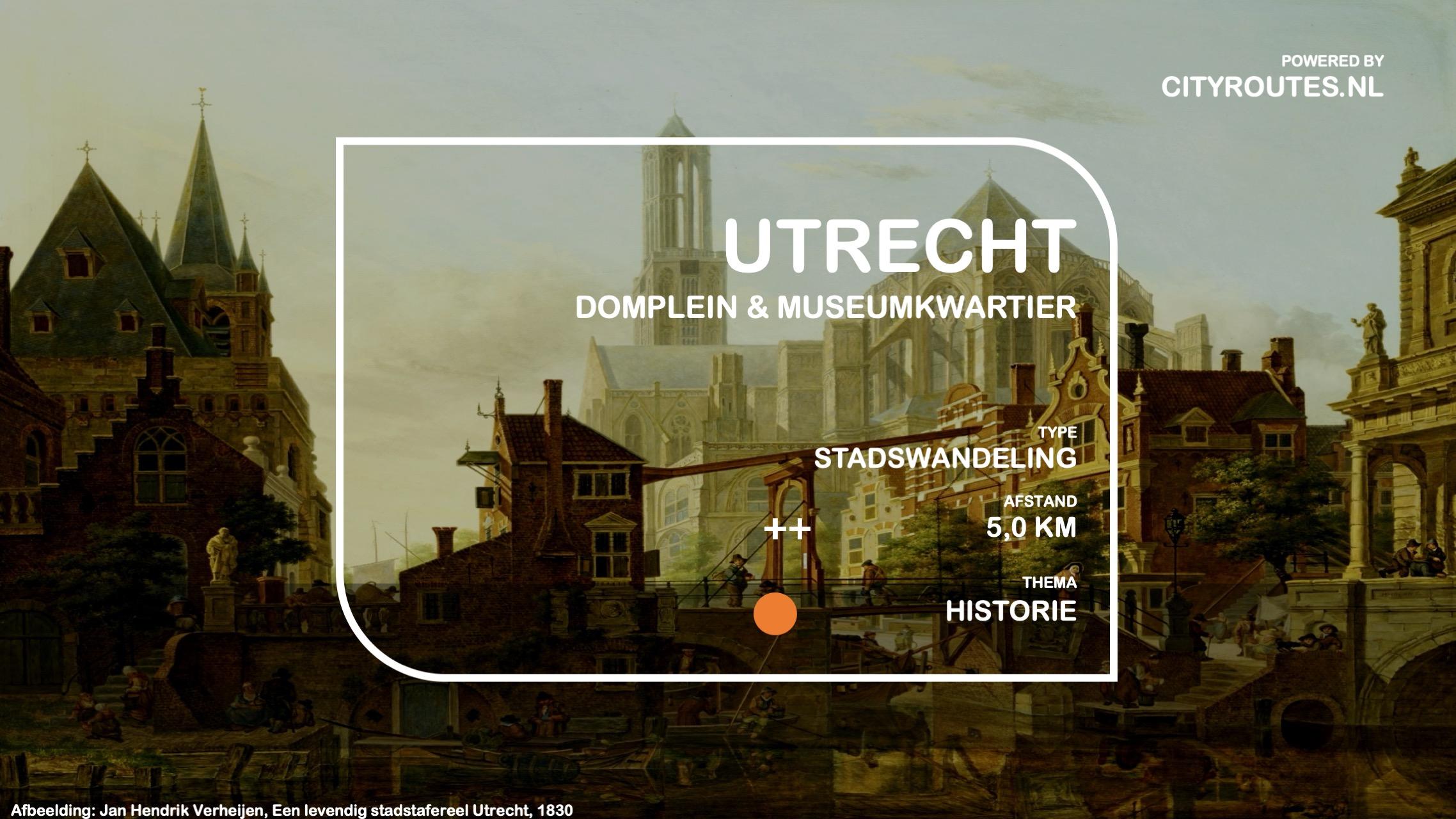 Gratis stadswandeling Utrecht Museumkwartier en Domplein
