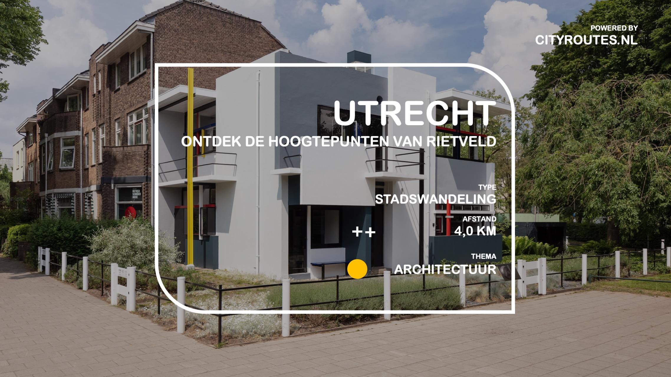 Gratis stadswandeling Utrecht Rietveld Cityroutes