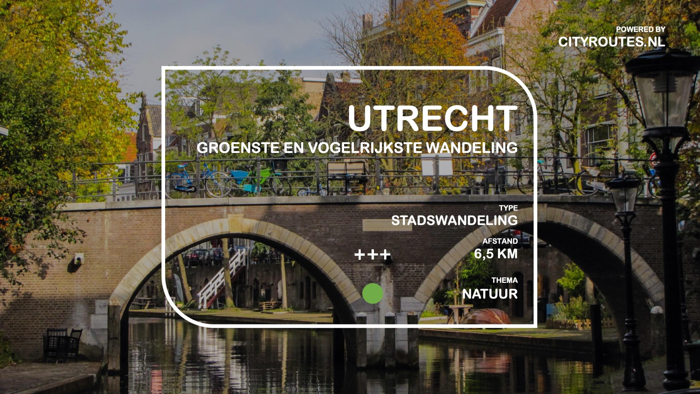 Gratis stadswandeling Utrecht groen en vogelrijk