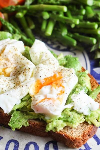 Avocado & poached eggs on toast