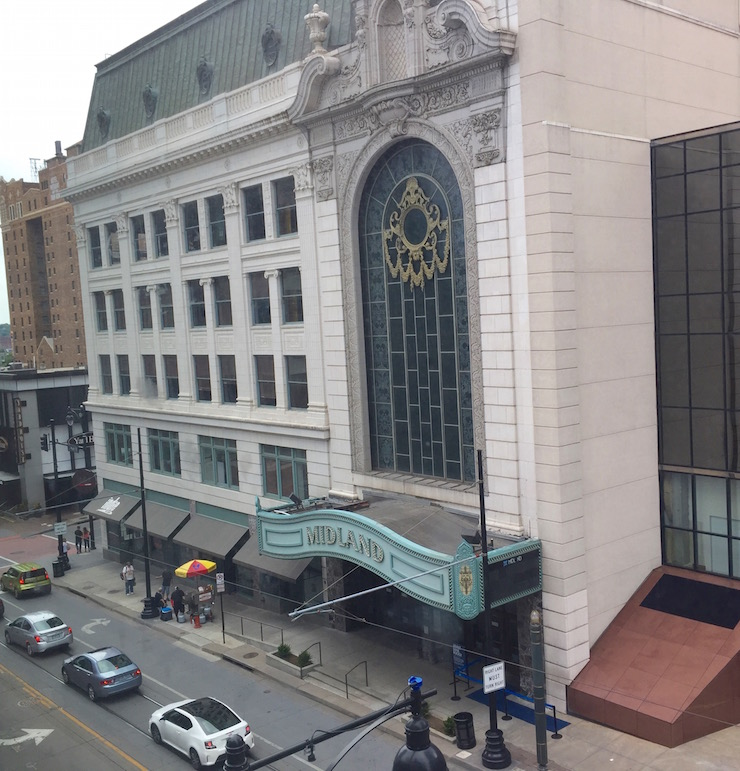 Midland Theater above