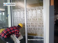 RainMaker Signs Creates Frosted Glass Film Graphics for